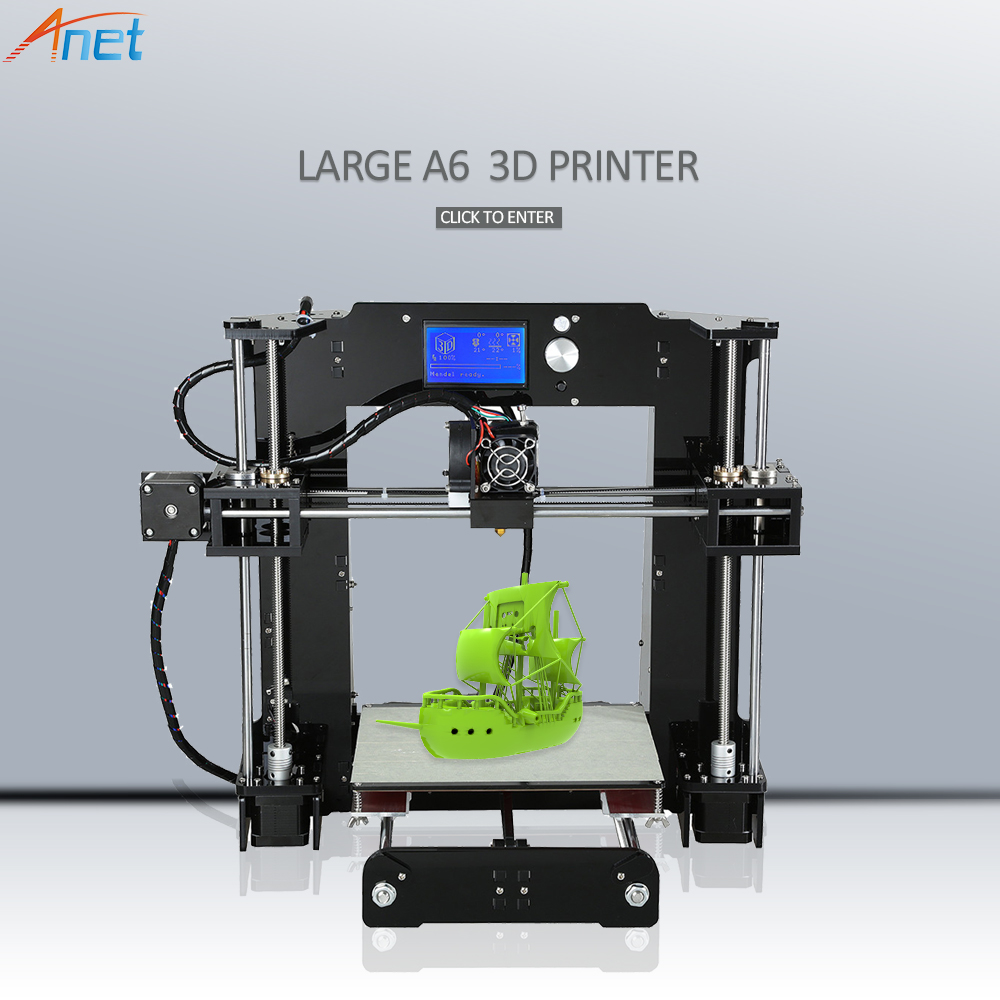 2018 New ! Anet E10 Autolevel A8 A6 3D Printer Large Printing Size High Precision Reprap i3 DIY 3D Printer Kit with Filament anet high precision auto leveling 3d printer big size lcd 2004 220 270 220mm metal 3d printer kit with 10m filament sd card
