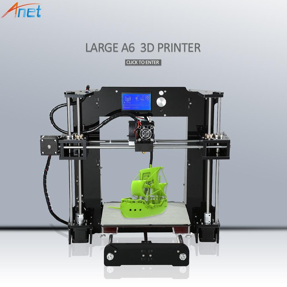 2018 Nouveau! Anet E10 Autolevel A8 A6 3D Imprimante Grand Impression Taille Haute Précision Reprap i3 DIY 3D Imprimante Kit avec Filament