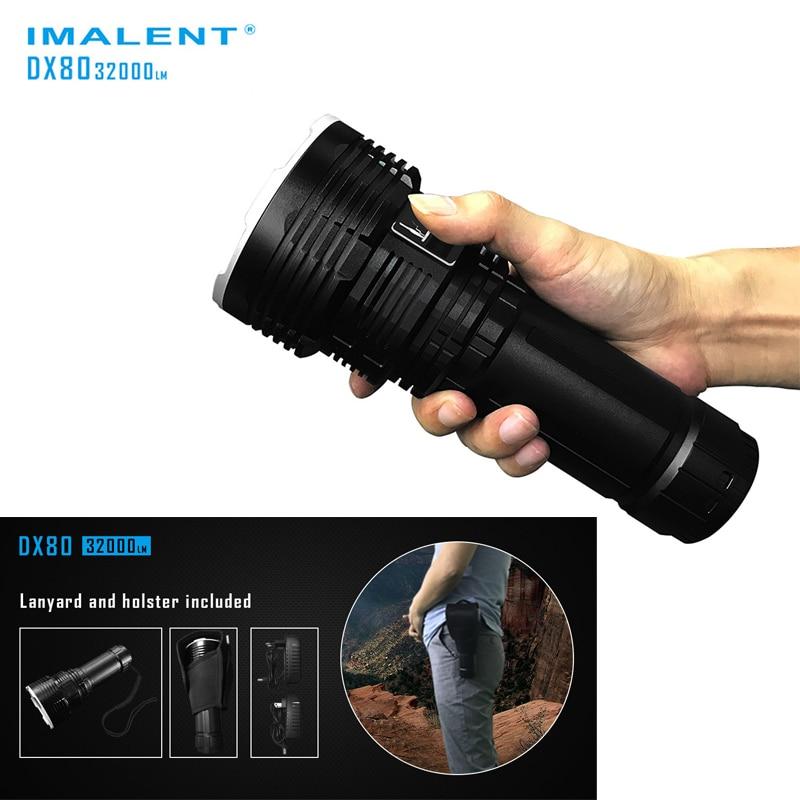 Супер факел Поиск вспышки света IMALENT DX80 8 * CREEXHP70 Макс. 32000 люмен света Встроенный самый мощный фонарик 806 м