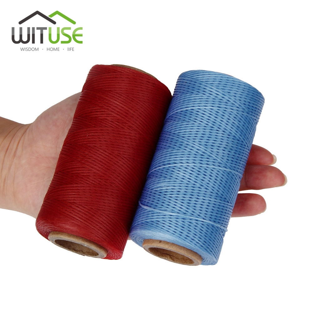 WITUSE Promotion! 1mm Durable 260 Meters Leather Sewing Waxed Thread Cord  For DIY Handicraft Tool