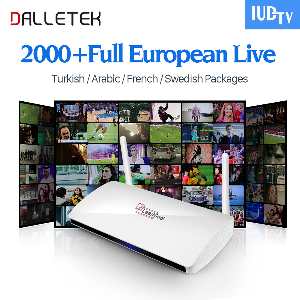 Leadcool Android TV Box with IPTV Subscription 1 year IUDTV 2000+IPTV Channels Europe French Arabic Albania Spain Sweden IPTV leadcool android tv box with iptv subscription 1 year iudtv 2000 iptv channels europe french arabic albania spain sweden iptv