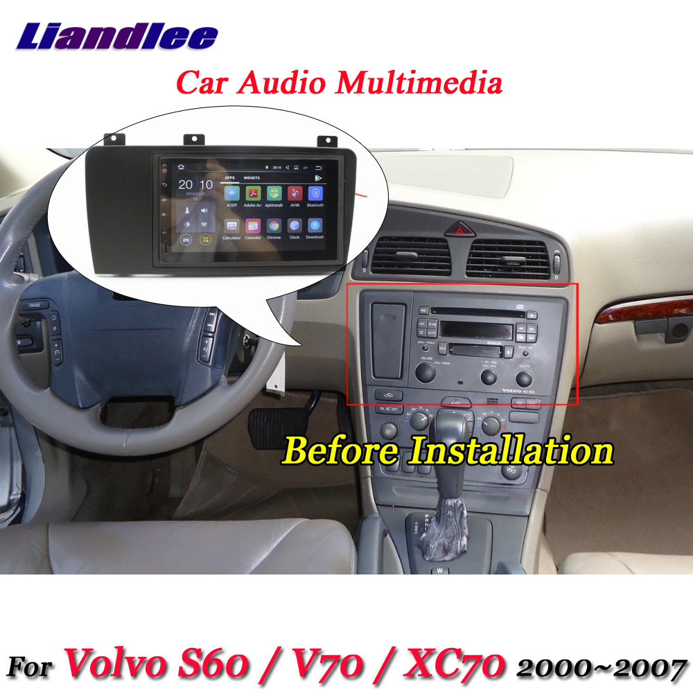 Liandlee Car Android System For Volvo S60 V70 XC70 2000 2007 Radio Frame GPS Navi MAP