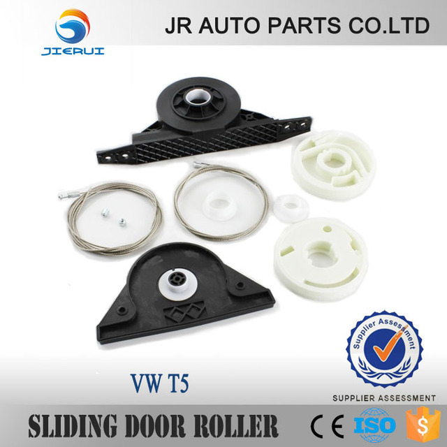 JIERUI FOR VOLKSWAGEN CAR PARTS WINDOW REGULATOR REPAIR KIT PARTS VW T5 TRANSPORTER ELECTRIC SLIDING DOOR KIT RIGHT SIDE