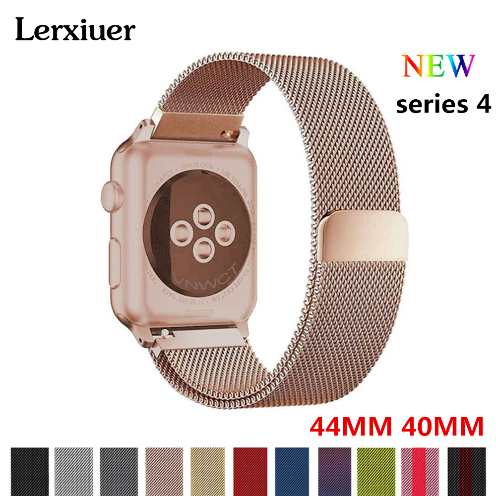 Milanese Loop For Apple watch 4 band strap 44mm 40mm watchband iwatch series 3 2 1 Stainless Steel metal Bracelet wrist belt so buy for apple watch series 3 2 1 watchbands 38mm belt 42mm stainless steel bracelet milanese loop strap for iwatch metal band
