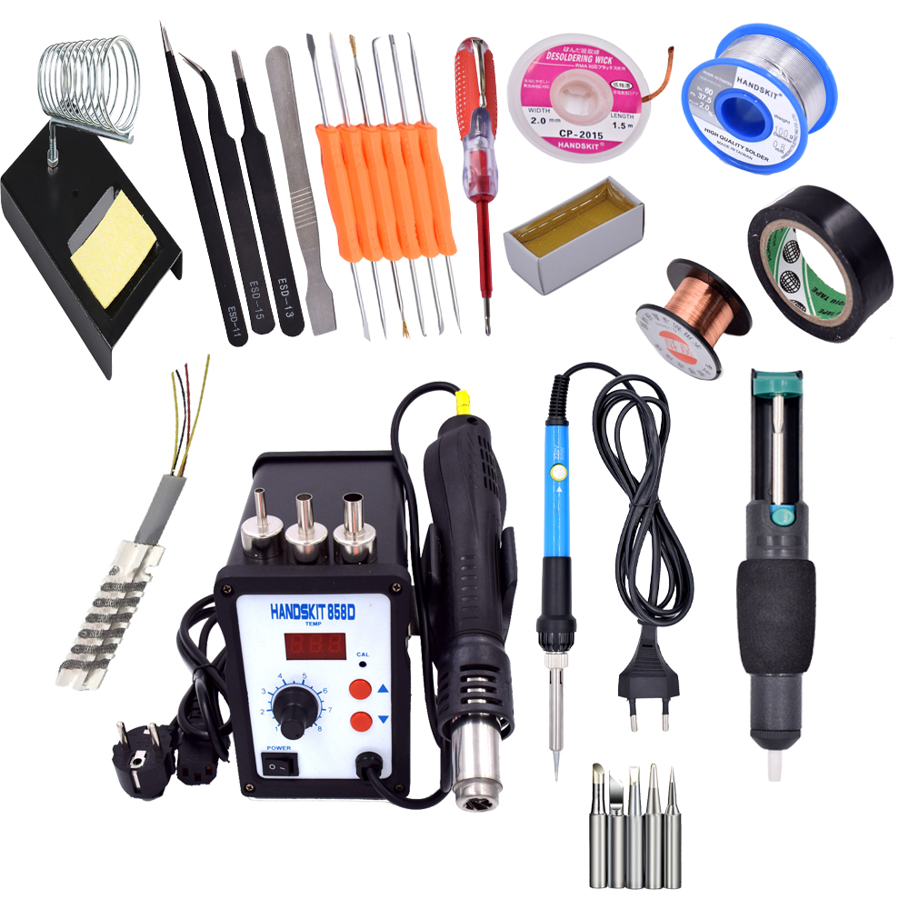 858D digital hot air rework station with soldering iroN gun welding mobile phone service dedicated rotational wind