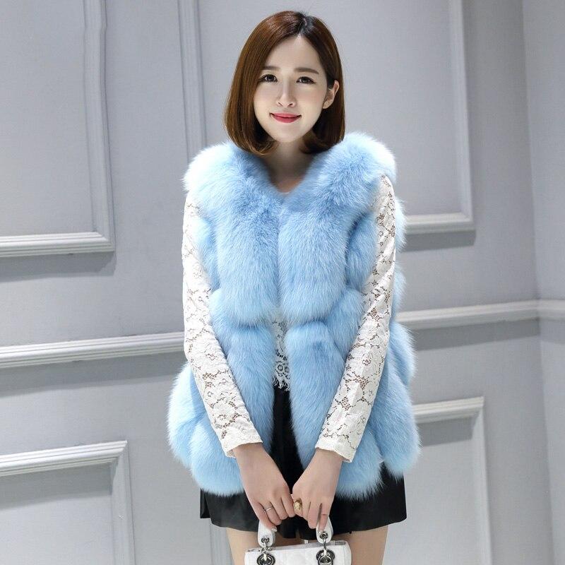 Femei blană de vulpe paltoane nou 2016 Sosire de iarnă la cald moda - Îmbrăcăminte femei