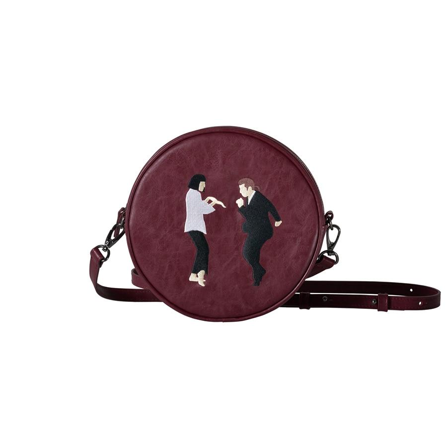 Kiitos Life Circular PU messenger bags for girls original designed in 2styles(FUN KIK )