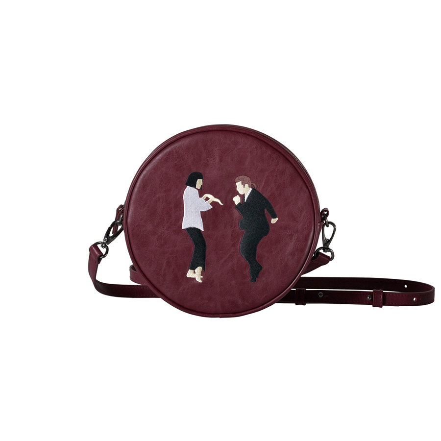 Kiitos Life Circular PU mensajero bolsas para niñas diseño original en 2 estilos (Diversión KIK)