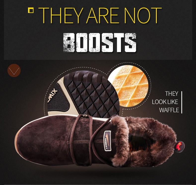 ONEMIX Winter Boots Men & Women Warm Wool Sneakers Outdoors Neutral Sports Sneakers Comfort Running Shoes Sale Size 36-45 7