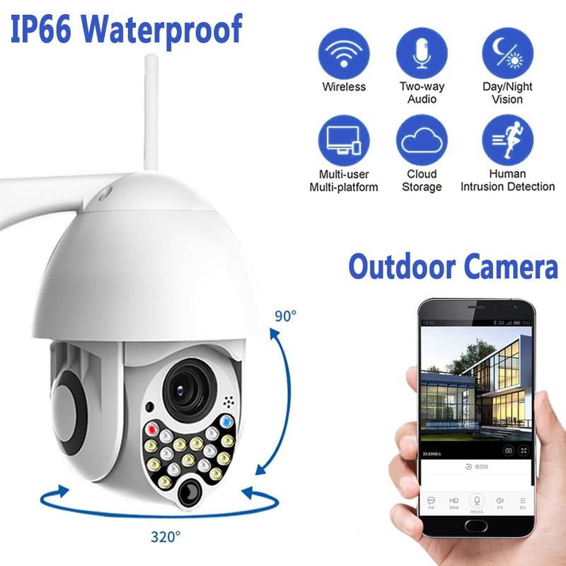 1080P PTZ IP Tilt 4X Digital Zoom Network CCTV Surveillance Camera Wifi Outdoor Speed Dome Wireless Wifi Security Camera Pan