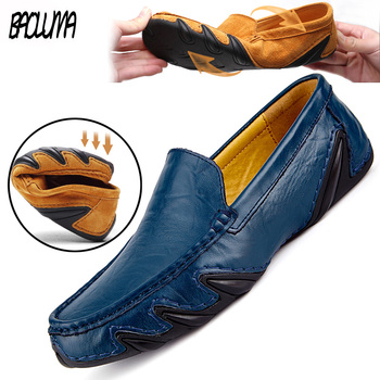 2019 New Brand Quality Men Loafers Leather Breathable Men's Casual Shoes Men Driving Oxfords Shoe Flats Moccasins Shoes 1