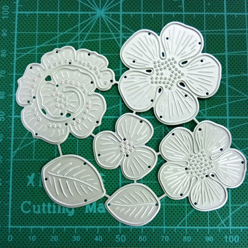 Arts,crafts & Sewing Responsible Duofen Metal Cutting Dies Flower Craft Card Set For Diy Papercraft Projects Scrapbook Paper Album Scrapbooking & Stamping