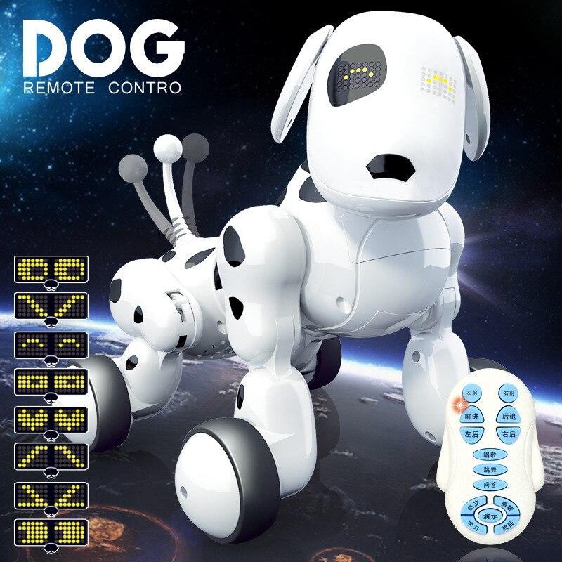 Nouveau jouet éducatif enfant ami jouet télécommande chien rc chien robot avec chant danse jouer en mouvement usb charge enfants cadeaux