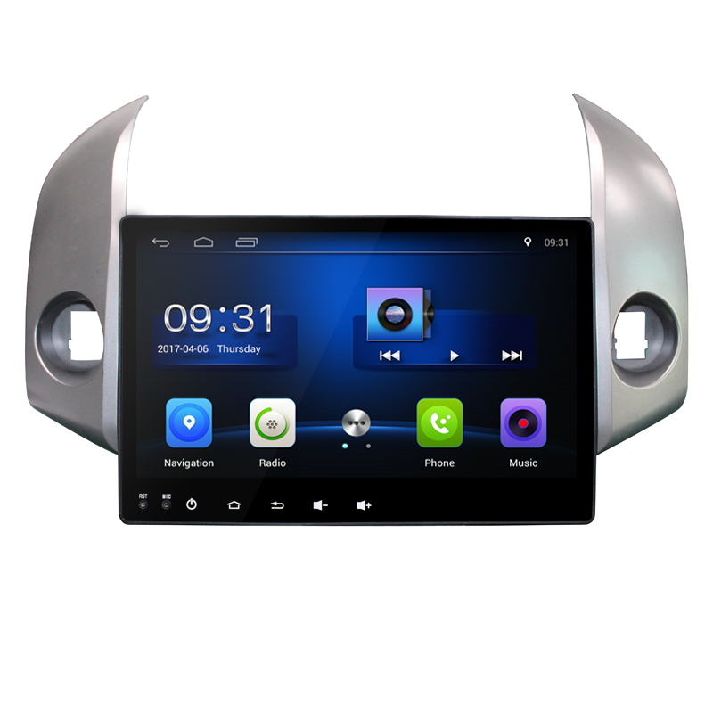 10.2 Quad Core Android 6.0 1G RAM Car Radio for Toyota Highlander Kluger 2008-2012 with GPS Navigation steering wheel Free map