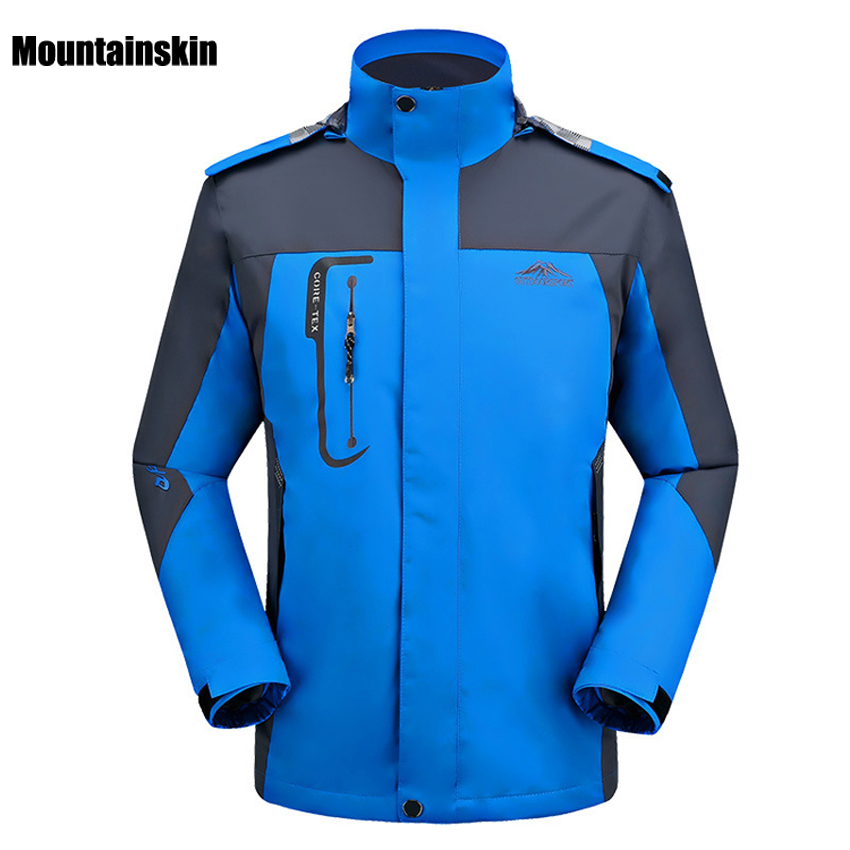 2018 Men Outdoor Hiking Jackets Spring Autumn Breathable Sport Climbing Jacket Windproof Waterproof Jacket Trekking Coat RM150