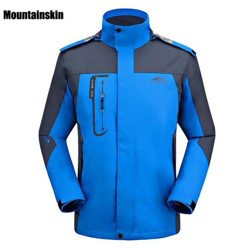 2018 Men Outdoor Hiking Jackets Spring Autumn Breathable Sport Climbing Jacket Windproof Waterproof Jacket Trekking Coat RM150