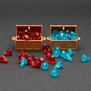 Image 2 - Accessori per città mattoncini da costruzione scatola per gioielli gemma pietra preziosa figura pirata dei caraibi giocattolo del tesoro compatibile con lego