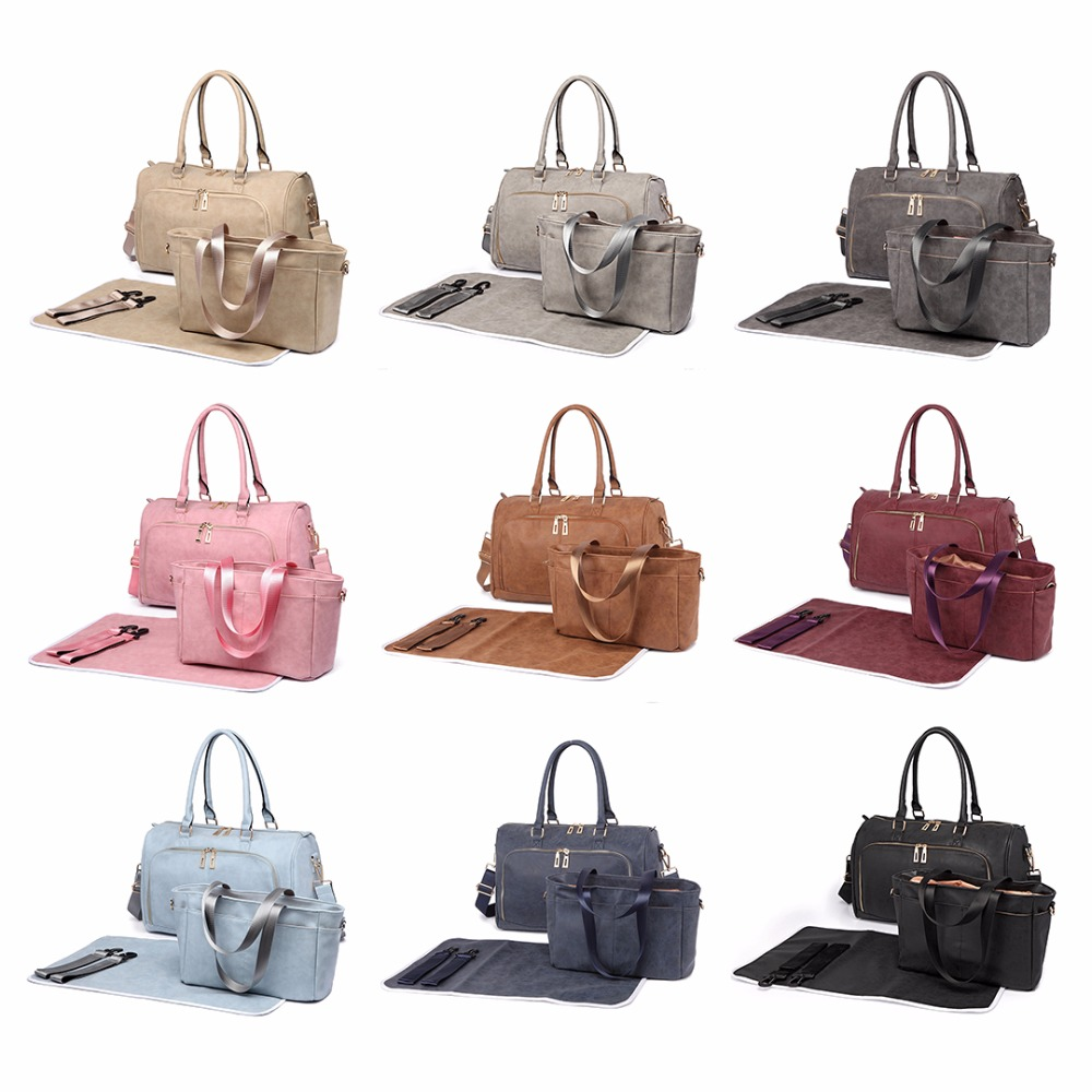 15e19830dbb75 Miss Lulu Diaper Nappy Bags Baby Changing Bag Nursing Clean Wet Bags  Multifunction Mummy Maternity Handbag Stroller Tote LT6638-in Shoulder Bags  from ...