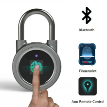 Fingerprint Padlock Bluetooth Lock APP IP65 Waterproof Megafeis Smart Padlock with Keyless Biometric for Door Backpack Suitcase