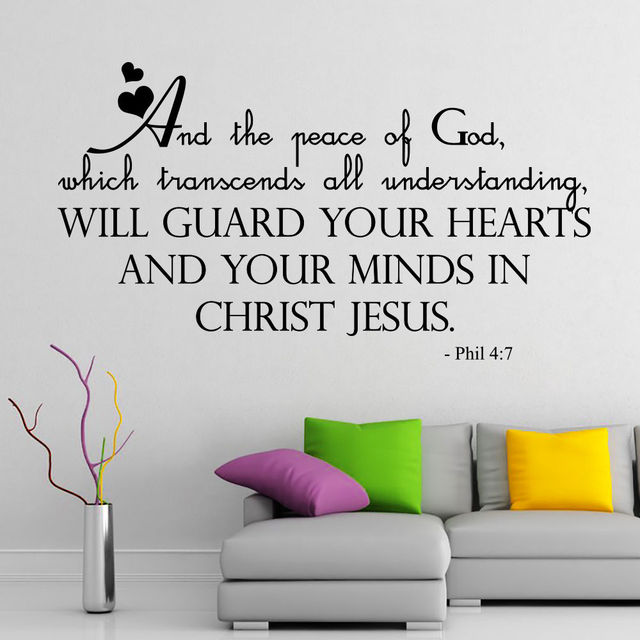 Newly Arrivals Wall Decal Quotes Bible Verse Psalm Philippians - Wall decals quotes bible