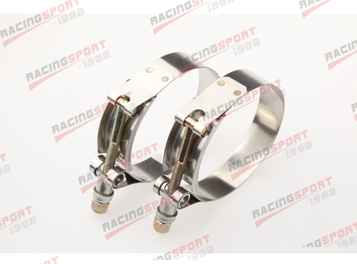 Pack of 2pcs-2.5 T BOLT CLAMPS Turbo Pipe Hose Coupler Stainless Steel 67-75mm
