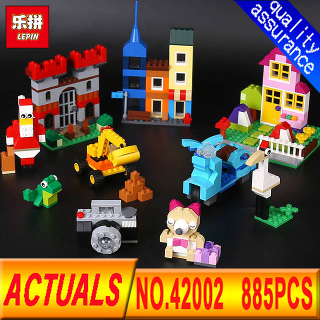 LEPIN 42002 Classic Duplo  840PCS Large Creative Building Block Brick enlighten DIY toy for children gifts brinquedos 10698 степлер мебельный со скобами sparta 42002