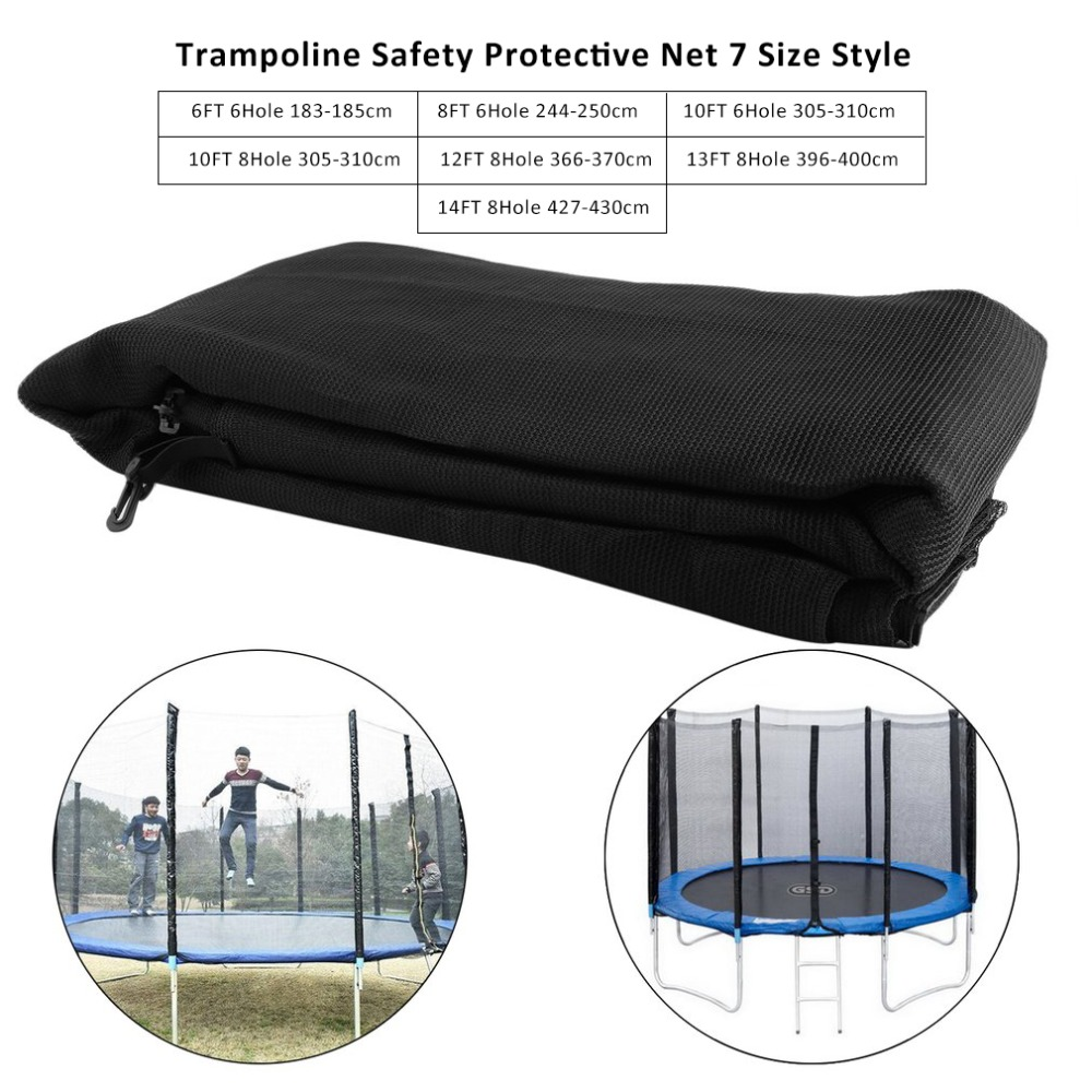 High Quality Outdoor Large 7 Size Style <font><b>Trampoline</b></font> Replacement Net <font><b>Trampoline</b></font> Safety Protective Net Bundle Enclosure