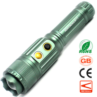 Induction Electric Zoom LED Flashlight Zoomable Torch 3 Modes Cree T6 18650 Rechargeable Battery Flash Light Outdoor Sports Lamp