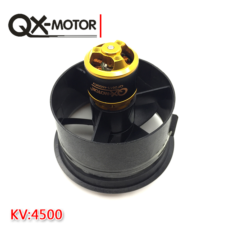 Image 5 - QX Motor Electric Ducted Fan 2611 4500KV Brushless Motor 64MM EDF 5 Blades Unit 40A esc for RC Airplane Model Accessories Parts-in Parts & Accessories from Toys & Hobbies on AliExpress