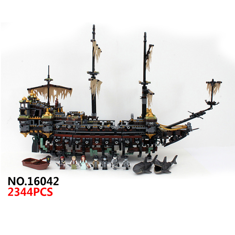 Classic movie Pirates of the Caribbean Silent Mary ship building block model mini Captain Jack figures lepine bricks 71042 toys фара fenix bt30r