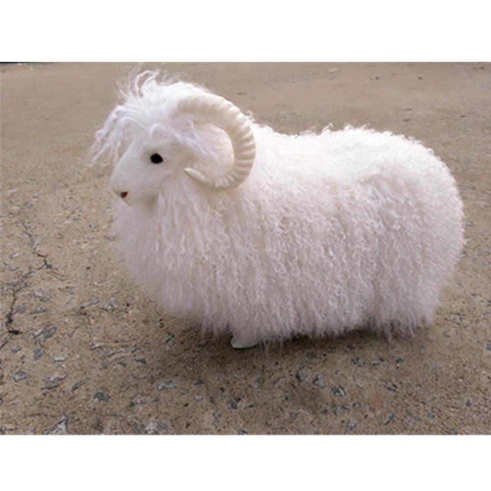 Fancytrader Realistic Simulation Sheep Plush Toy Stuffed Fluffy Animals Goat Doll Kids Gift Decoration 38x30cm fluffy animals
