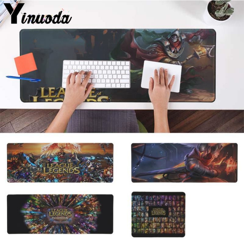 Yinuoda In Stocked League of Legends Laptop Gaming Mice Mousepad Size for 180*220 200*250 250*290 300*900 and 400*900*2mm