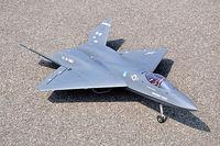 YF23 Twin 70MM EDFJet RC RTF Plane Model Flap Metal Retracts RC Airplane Model