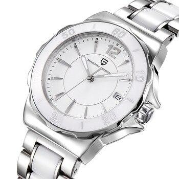 שעון קלאסי מרשים לנשים עם רצועת מתכת