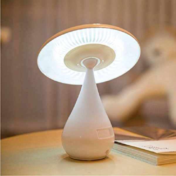 ФОТО Mushroom Shaped Ionizer Air Purifier LED Desk Lamp/Rechargeable Energy Saving Book Light with Touch Adjustable Led Desk Lighting