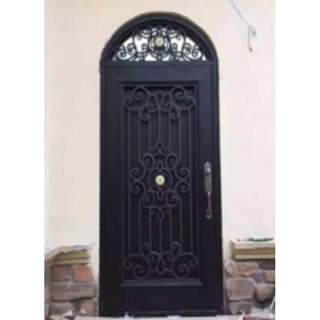 Metal vidrio puertas de entrada doble de lujo puertas de for Puertas de metal con vidrio