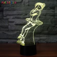 Figure Skating LED Night Light Sport Series 3D Lamp Bulbing Touch Colorful Desk Lamp for Kids Gift USB Lamp стоимость