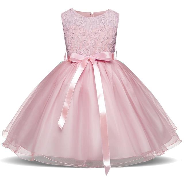 Blumenmadchen kleid rosa