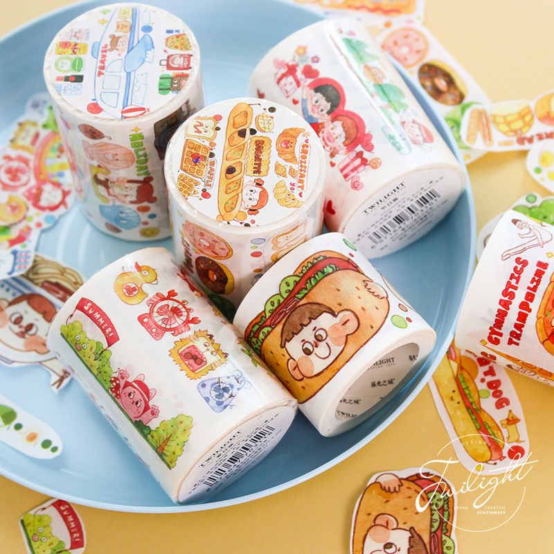 Image 2 - 6PCS/LOT meatball life series of decorative paper tapes masking tape washi tape-in Office Adhesive Tape from Office & School Supplies