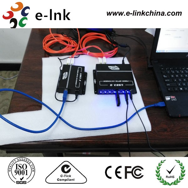 E-link Fiber Optic Extenders with 7 USB portsE-link Fiber Optic Extenders with 7 USB ports