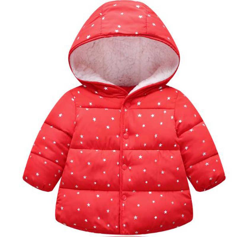 Куртка для маленьких девочек коллекция 2018 года, осенне-зимняя куртка для девочек, пальто детская теплая верхняя одежда с капюшоном детская одежда пальто для маленьких девочек