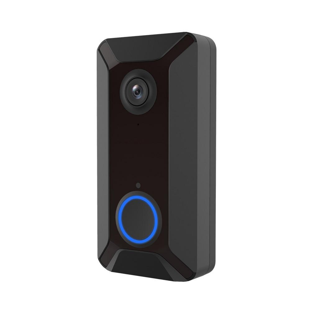 V6 wifi sonnette intelligente sans fil 720 P caméra vidéo Cloud stockage porte cloche cam étanche sécurité maison cloche argent