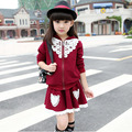 Girl Sweater Lace Skirt Suit Korean Autumn Girls Princess Clothing Sets long sleeve Meisjes Kleding Sets  Girl Cute Skirt Suit