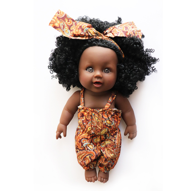 YARD Simulation Soft Child Reborn Baby Doll Toy Mini Doll Body Black Dolls for Girls