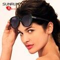 SUNRUN Óculos Polarizados TR90 Mulheres Óculos de Design Da Marca óculos de Sol Retros UV400 gafas de sol oculos TR6010