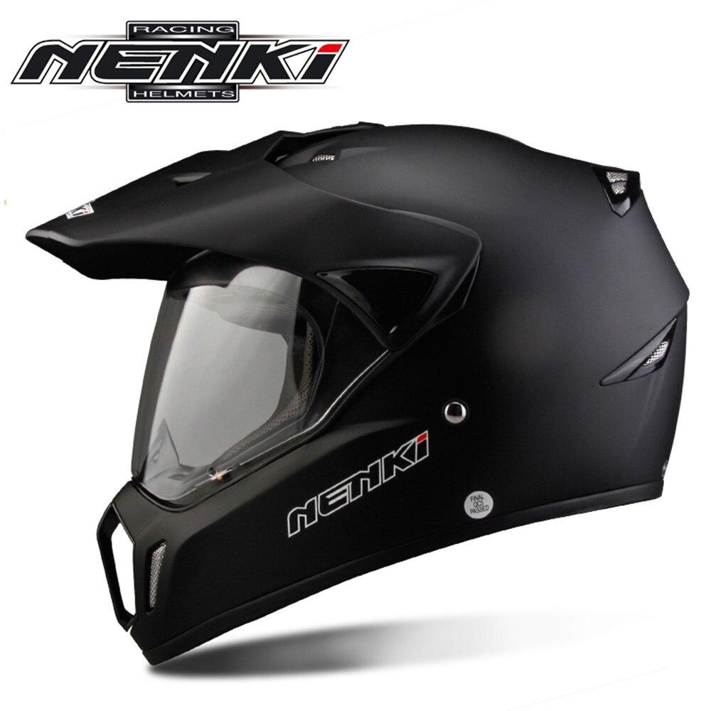 NENKI Motorcycle Motocross Helmet Capacete da Motocicleta Cascos Moto Casque Kask Dirt Bike Racing Dual Sports Helmet 310