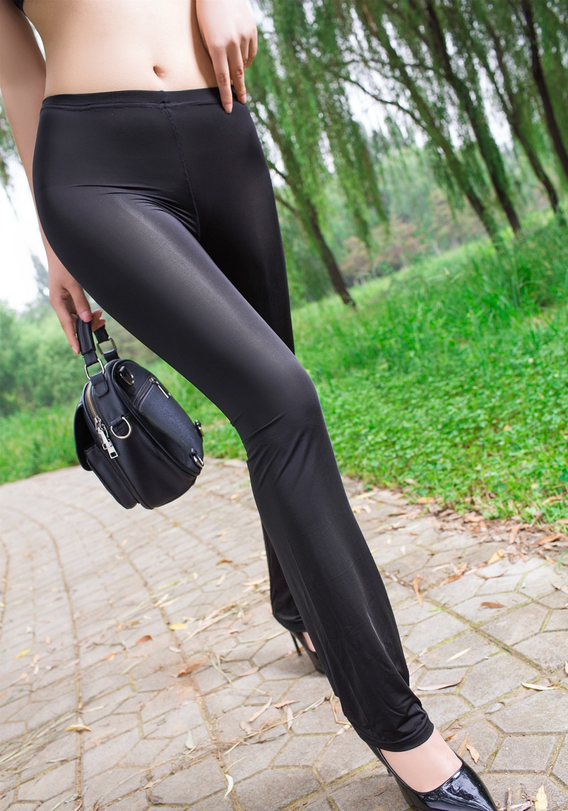 Sexy Fashion Casual Stretch Lengthen Slightly Thin Capris Long Trousers Open Crotch Close