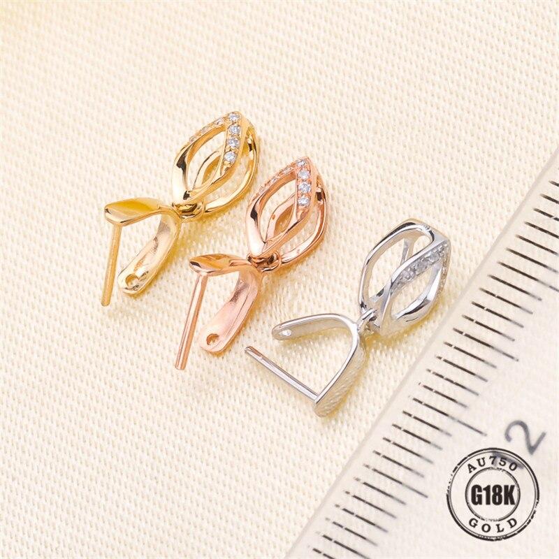 Vente chaude solide 18 k or jaune pendentif Clip fermoir pince pince Bail pendentif connecteurs Bail perles résultats de bijoux bijoux à bricoler soi-même Acc - 2