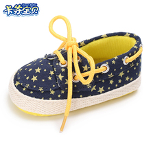 Baby Canvas Shoe Infant Boy Girl First Walkers 2 Color Shoe Soft Sole Dot Star Crib shoes Newborn Toddler Shoes