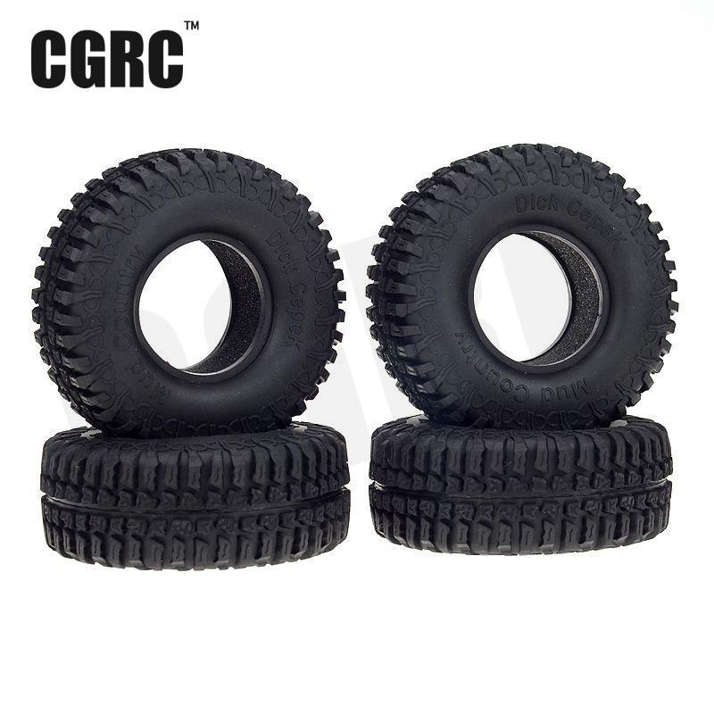 4 unids/set 1,9 pulgadas de neumático de caucho de neumáticos de rueda de 1/10 Crawler coche Traxxas TRX4 Ford Bronco D90 D110 Axial scx10 90046 RC4WD CC01